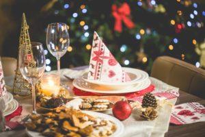 kerstbrunch gedekte tafel